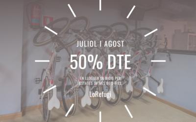50% DE DESCOMPTE EN LLOGUER DE BICIS